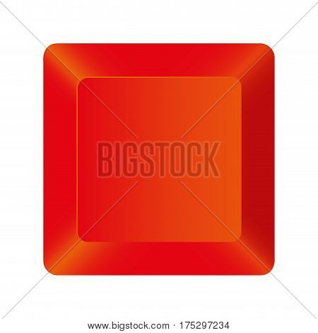 red button of computer keyboard, vector illustraction design