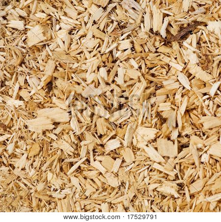 An abstract wood chip background