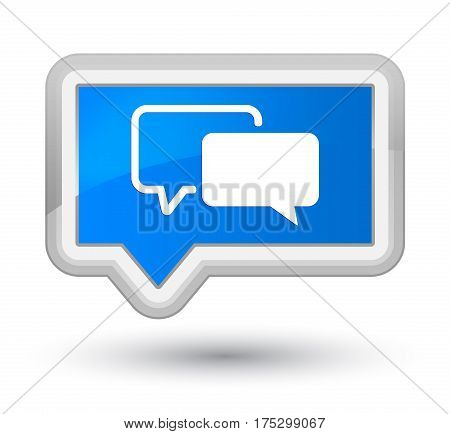 Testimonials Icon Prime Cyan Blue Banner Button