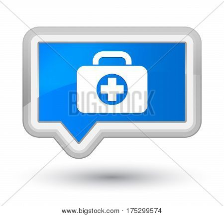 First Aid Kit Bag Icon Prime Cyan Blue Banner Button