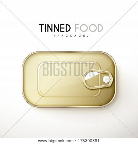 Top View Of Tinned Food Package