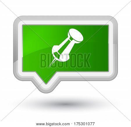 Push Pin Icon Prime Green Banner Button