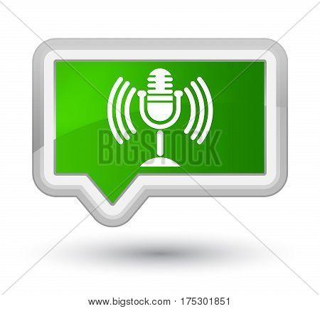 Mic Icon Prime Green Banner Button
