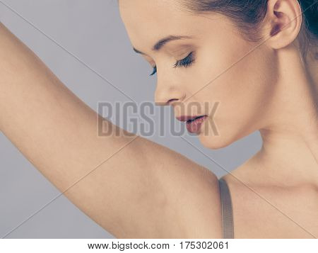 Armpit Care Woman With Perfect Skin
