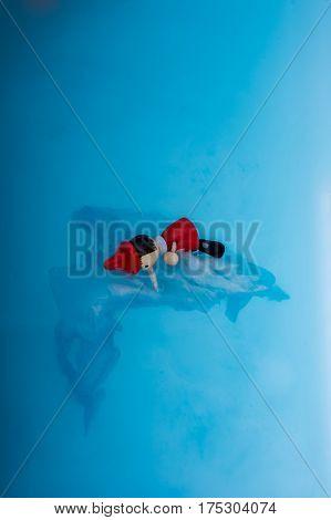Wodden Puppet Pinocchio In Water