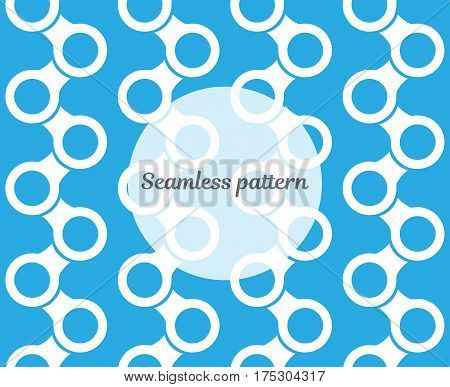 Modern stylish texture. Background for web or print. Repeating geometric objects. Vector seamless pattern.