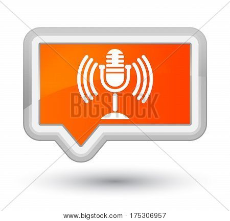 Mic Icon Prime Orange Banner Button