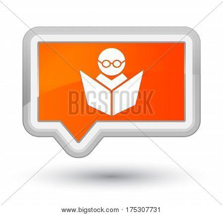Elearning Icon Prime Orange Banner Button