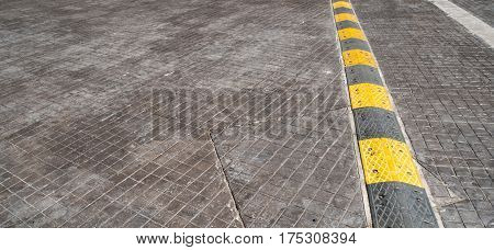 Road bump on the road for reduce speed