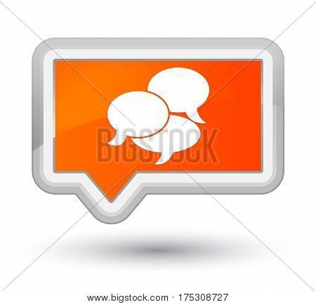 Comments Icon Prime Orange Banner Button