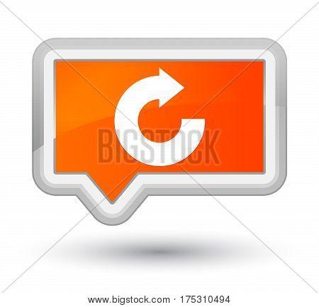 Reply Arrow Icon Prime Orange Banner Button