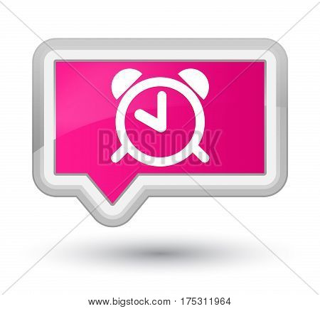 Alarm Clock Icon Prime Pink Banner Button