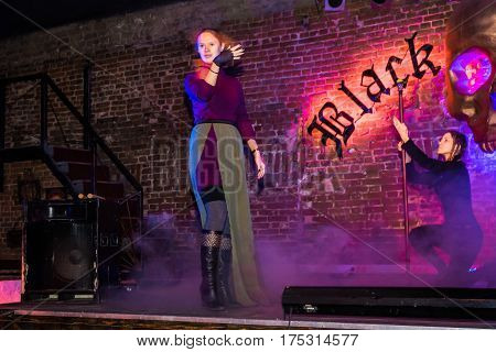Rehearsal Before Fashion Performance Art Chaos In Night Club Black Rose In Kirov City In 2016