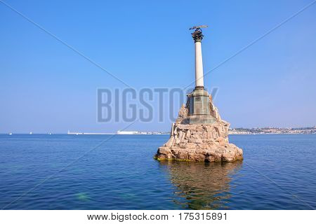 Monument to the Scuttled Ships in Black Sea in Sevastopol