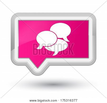 Comments Icon Prime Pink Banner Button