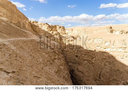 Hiking in mideast stone desert tourism in israel