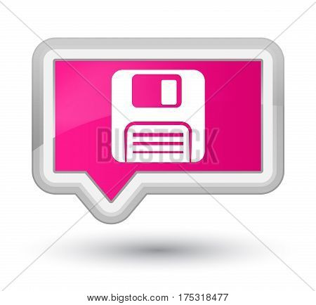 Floppy Disk Icon Prime Pink Banner Button