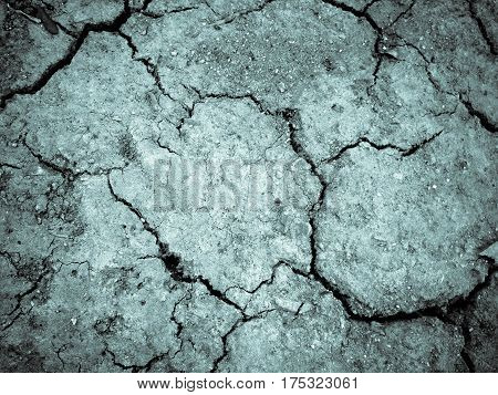 Dried Cracked Earth Soil Ground.