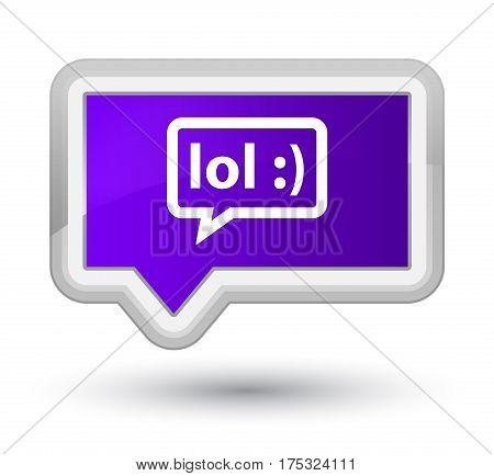 Lol Bubble Icon Prime Purple Banner Button