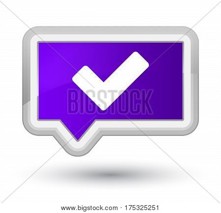 Validate Icon Prime Purple Banner Button