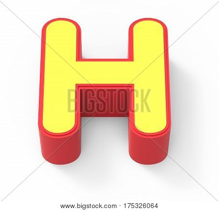 Yellow Letter H