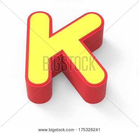 Yellow Letter K