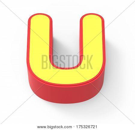 Yellow Letter U