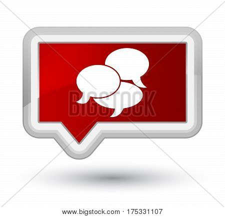 Comments Icon Prime Red Banner Button