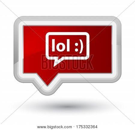 Lol Bubble Icon Prime Red Banner Button