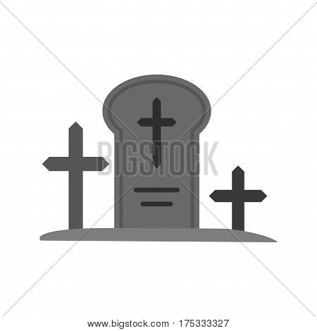 Grave, death, funeral icon vector image. Can also be used for town. Suitable for mobile apps, web apps and print media.