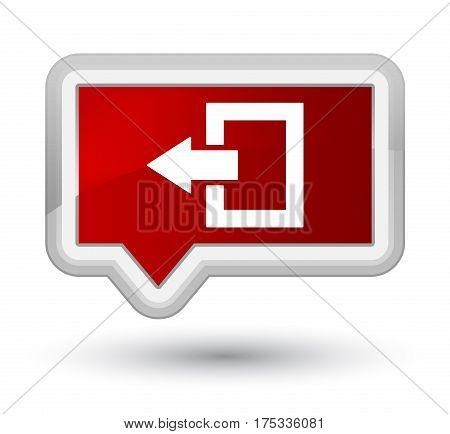 Logout Icon Prime Red Banner Button
