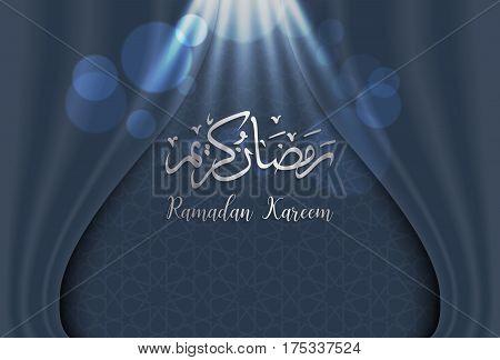 ramadan backgrounds vectorArabic Islamic calligraphy of Ramadan kareem on curtian background.