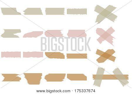 Pieces of torn paper. Flat design, vector illustration, vector.
