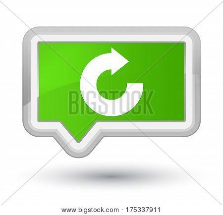 Reply Arrow Icon Prime Soft Green Banner Button