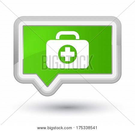 First Aid Kit Bag Icon Prime Soft Green Banner Button