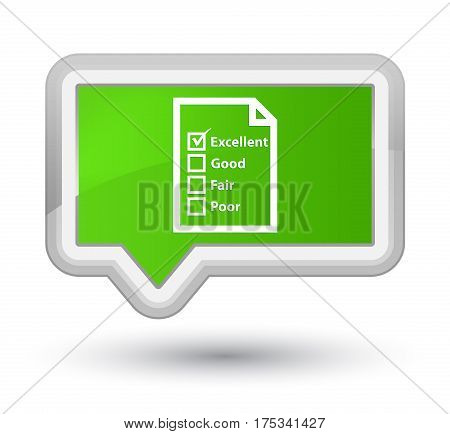 Questionnaire Icon Prime Soft Green Banner Button