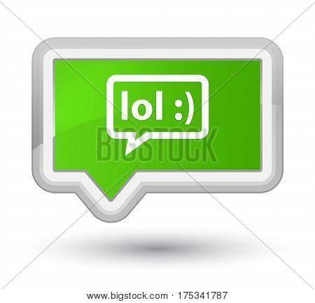 Lol Bubble Icon Prime Soft Green Banner Button