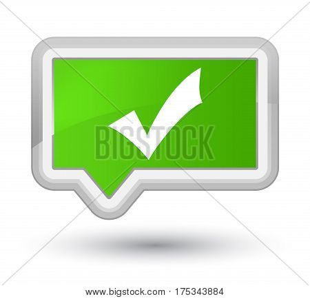 Validation Icon Prime Soft Green Banner Button
