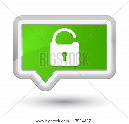 Unlock Icon Prime Soft Green Banner Button
