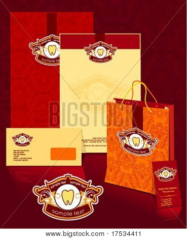 Office elements and accesories. Vector business set of secretarial things and supplies. Workplace with packet and folder. Collection _1
