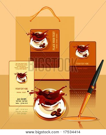 Office elements and accessories. Vector business set of secretarial things and supplies. Workplace with packet and pen. Collection _2