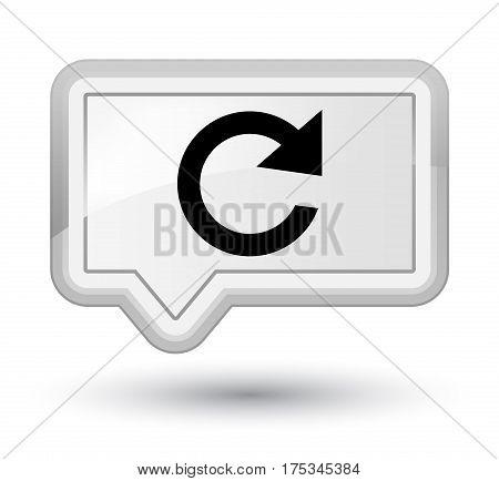 Reply Rotate Icon Prime White Banner Button