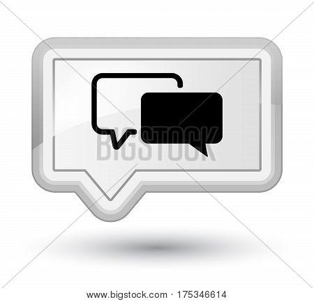 Testimonials Icon Prime White Banner Button