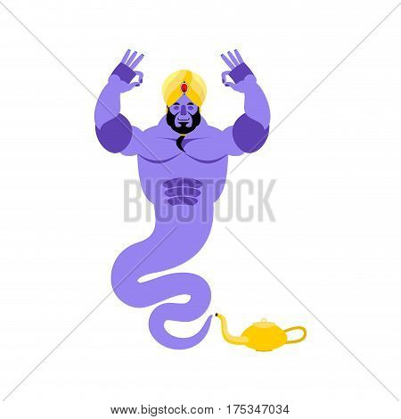 Genie Yoga. Magic Ghost Yogi. Arabic Magic Spirit Avatar