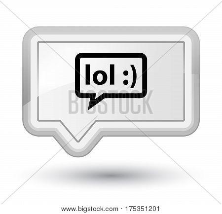 Lol Bubble Icon Prime White Banner Button