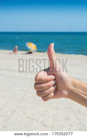 Hand Showing Thumbs Up Or Shows Good
