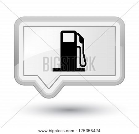 Fuel Dispenser Icon Prime White Banner Button