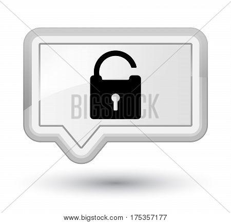 Unlock Icon Prime White Banner Button