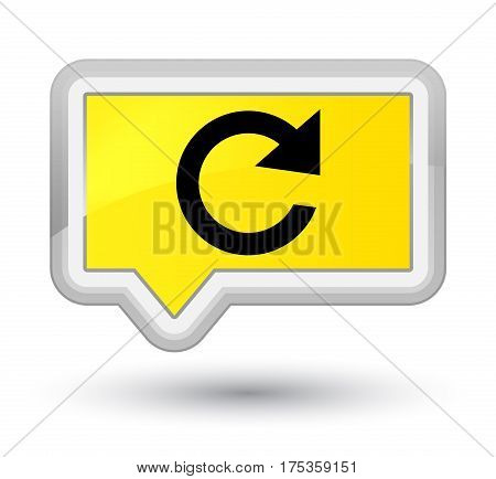 Reply Rotate Icon Prime Yellow Banner Button
