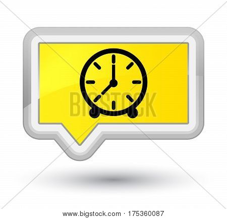Clock Icon Prime Yellow Banner Button